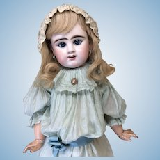 "Blue Eyed Lifesize Bebe 30"" Etienne Denamur Antique Doll"