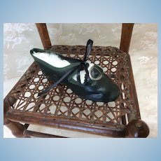 Antique Doll Shoe Single 3 3/4""