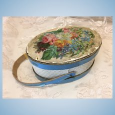"Antique 3"" Hat Box For French Fashion or Small Bebe"