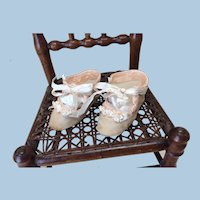 Antique Pink Doll Shoes