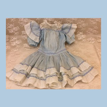 All Original Antique Dress French or German Doll