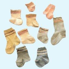 Vintage Tiny Tears Dy Dee Socks Singles Dolsox