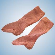 Beautiful Pink French Fashion Socks