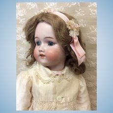 "Lovely Blue Eyed Simon Halbig/Bergman 23 1/2"" Antique Bisque Doll"