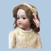 "Lovely Blue Eyed Simon Halbig/Bergman 23 1/2"" Antique Bisque Doll"