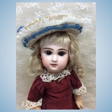 Small Early Lace & Ribbon Trimmed Hat for Doll