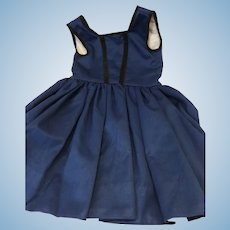 Navy Blue Seamstress Made Overdress For Doll