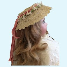 Beautiful Woven Hat for Fashion Doll or Bebe