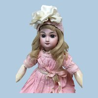 """Exquisite 17"""" French Bebe Mascotte in Antique Clothing"""