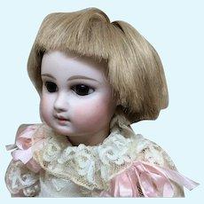 "8"" Early Vintage Human Hair Short Blonde Wig"