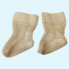 "2 1/2"" Antique Original French Bebe Socks Doll"