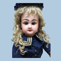 Antique Closed Mouth French Bebe RD Bisque Doll