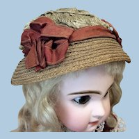 Small Antique Hat for Bebe or Fashion Doll