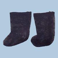 Antique Black Doll Socks