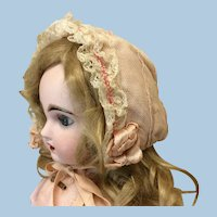 Silk and Netting Bonnet For Doll