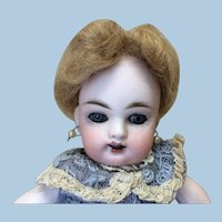 Small Antique Mohair Wig Fashion Doll All Bisque