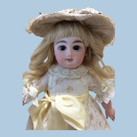 """Petite 12"""" Antique French Bebe Mascotte Bisque Doll"""