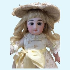 "Petite 12"" Antique French Bebe Mascotte Bisque Doll"