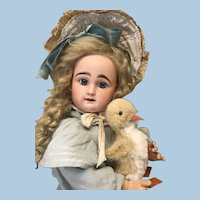 """22"""" Antique Bebe Closed Mouth RD w/ Duckling Bisque Doll"""