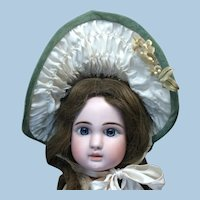 Wide Brim Wired Bonnet For Antique Doll
