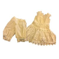 Antique Eyelet & Ribbon Matching Unders Set