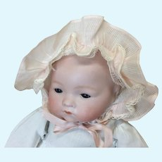 Small Vintage Pink Baby Doll Bonnet