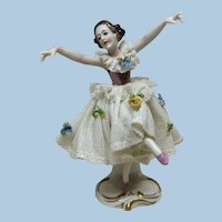 "4"" German Ballerina For Antique Doll Display"