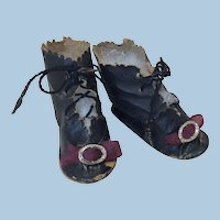 Antique Lace-Up Boots for Doll
