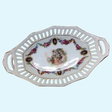 Miniature Antique German Basket Style Dish For Doll