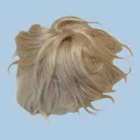 """Antique Mohair Short Blonde Wig 10 1/2 - 11"""" for Doll"""