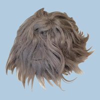 "Antique Mohair Wig Short Brown 12"""