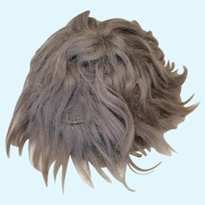 Antique Mohair Wig Short Brown 12""