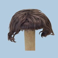 """Antique Mohair 14"""" Short Wig W/ Bangs Toddler or Other Doll"""