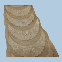 Antique Lace Netting Embroidery Embellishments for Doll Dresses Sewing