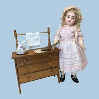 Antique Washstand & Accessories for Cabinet Sz Doll