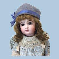 Smaller Antique Wool & Silk Doll Hat
