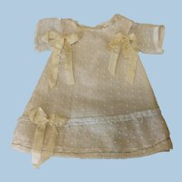 Antique Dotted Swiss Fabric Dress for French Doll