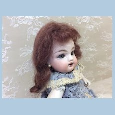 "Small 5"" Antique Mohair Brunette Doll Wig"