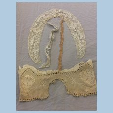 Large Antique Lace Pieces for Doll Dresses or Other Sewing