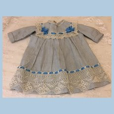 Early Hand Sewn Dress for Antique Doll