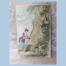 Ladies 1888 Calendar Trade Card for Fashion Doll Display