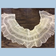 26 x 6 Antique Netting and Lace Ruffle for Doll Sewing or Other Sewing Projects