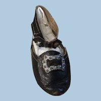 Gorgeous Antique Leather Shoe Single for Doll