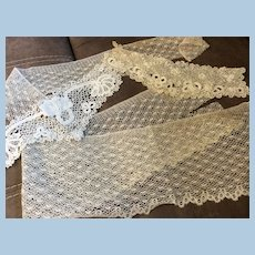 Lot of Antique Lace Doll Dress or Other Sewing