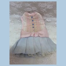 Vintage Dropped Waist Dress for Smaller Cabinet Size Doll