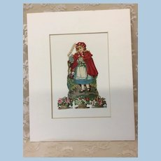 Little Red Riding Hood German Die Cut Matted
