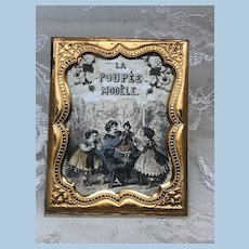 La Poupee Modele Print in Antique Ormolu Soft Metal Frame