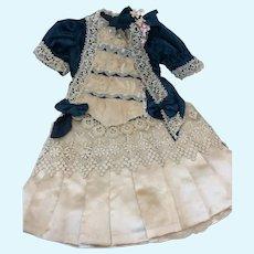 Exquisite French 2 Pc Costume Antique Fabric & Trims
