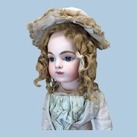 Silk Bonnet w/ Antique Lace for Doll