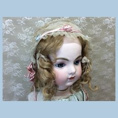 Netting and Silk Bonnet for Doll